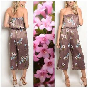 Pants - Asian Flowers Lounge Jumpsuit